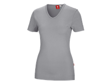 e.s. T-Shirt cotton V-Neck, dames