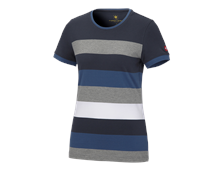 e.s. Pique-Shirt  cotton stripe, dames