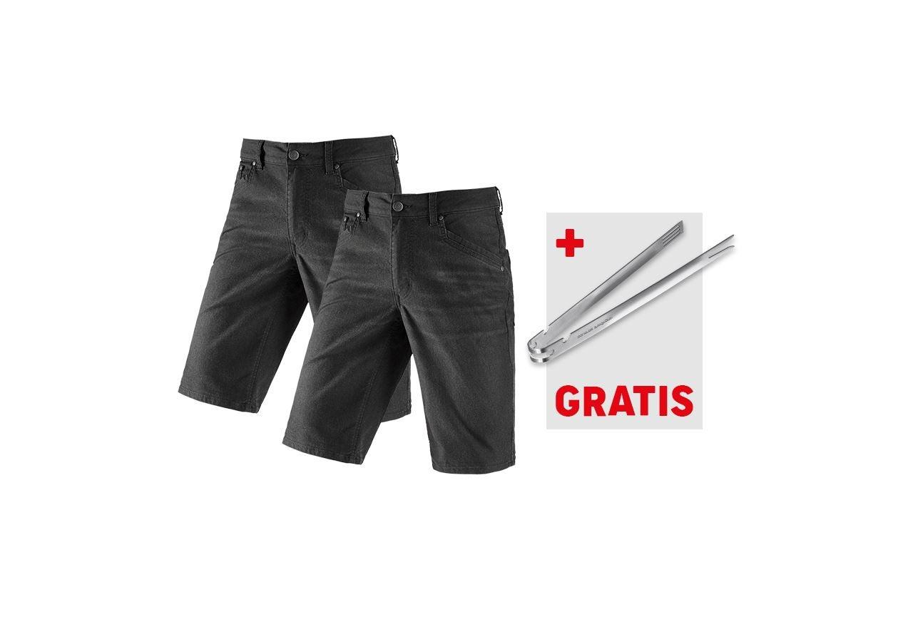 Kleding: Short 5 zakken e.s.vintage+GRATIS BBQ-tang + zwart
