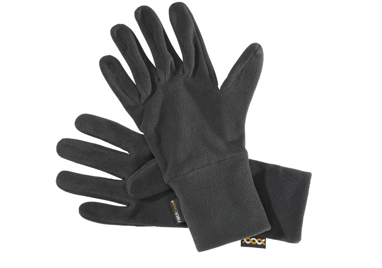 Accessoires: e.s. FIBERTWIN® microfleece handschoenen + zwart