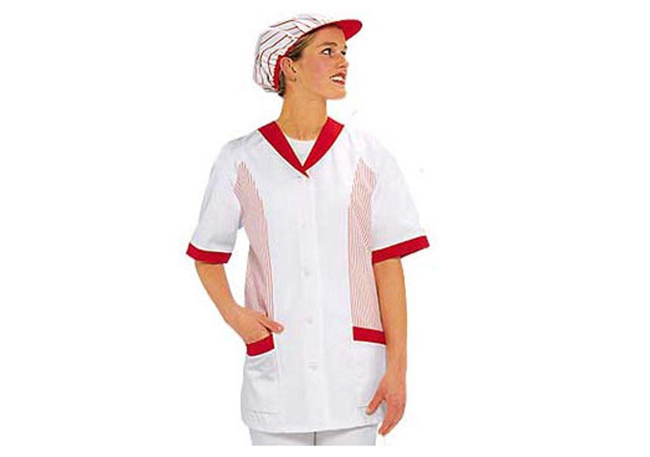 Bovenkleding: Dameshes Angela + wit/rood