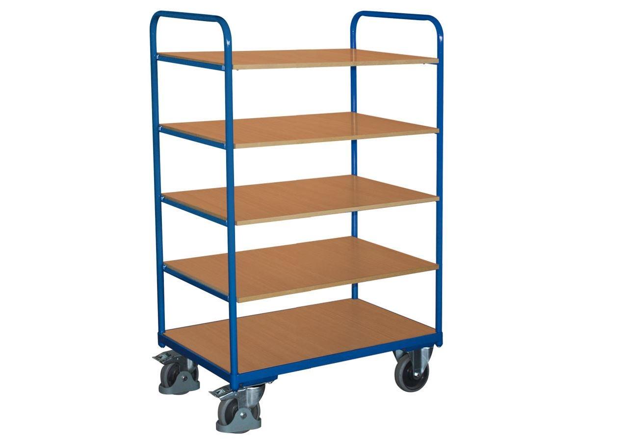 Strijkwagen: Hoge etagewagen met 5 legborden