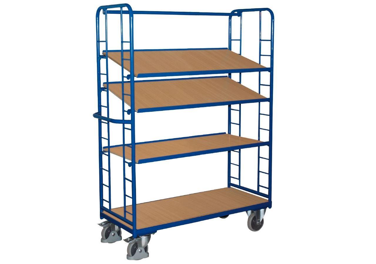 Strijkwagen: Etagewagen met 4 legborden