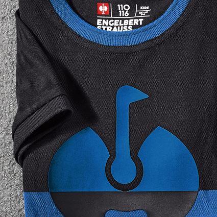 Bovenkleding: e.s. Pique-Shirt colourblock, kinderen + grafiet/gentiaanblauw 3