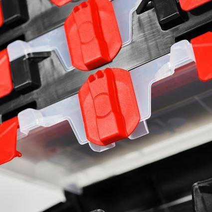 Gereedschapskoffers: STRAUSSbox mini + zwart/rood 2