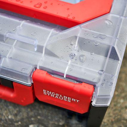 Gereedschapskoffers: STRAUSSbox 118 midi + transparant/zwart 2
