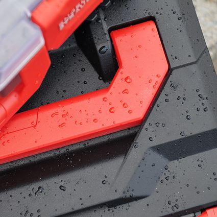 Gereedschapskoffers: STRAUSSbox 145 midi+ + zwart/rood 2