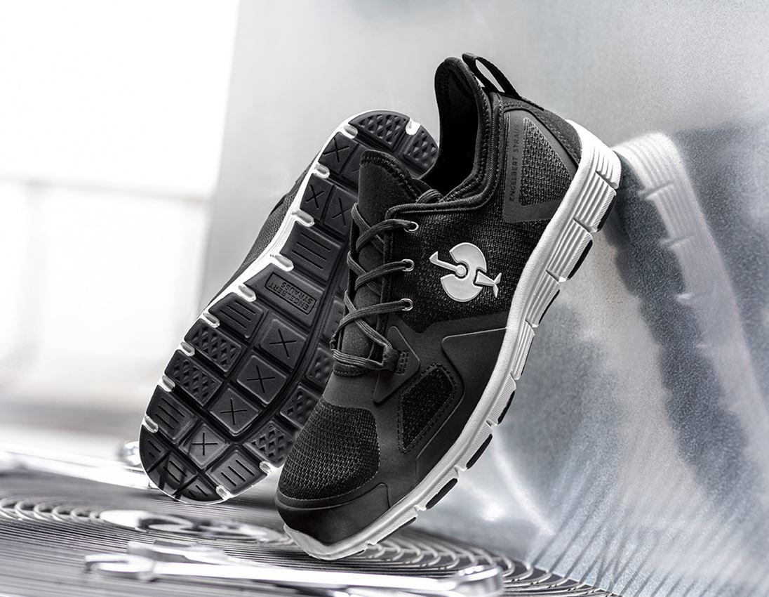 S1: S1 Halfhoge veiligheidsschoen e.s. Manda + zwart/zilver