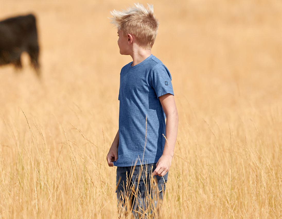 Bovenkleding: T-Shirt e.s.vintage, kinderen + arctisch blauw melange 1