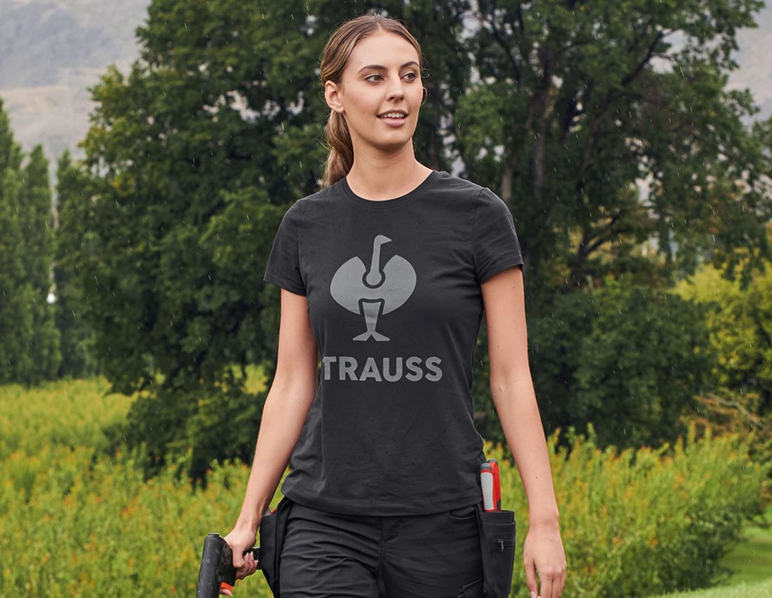 Bovenkleding: T-Shirt e.s.concrete, dames + zwart