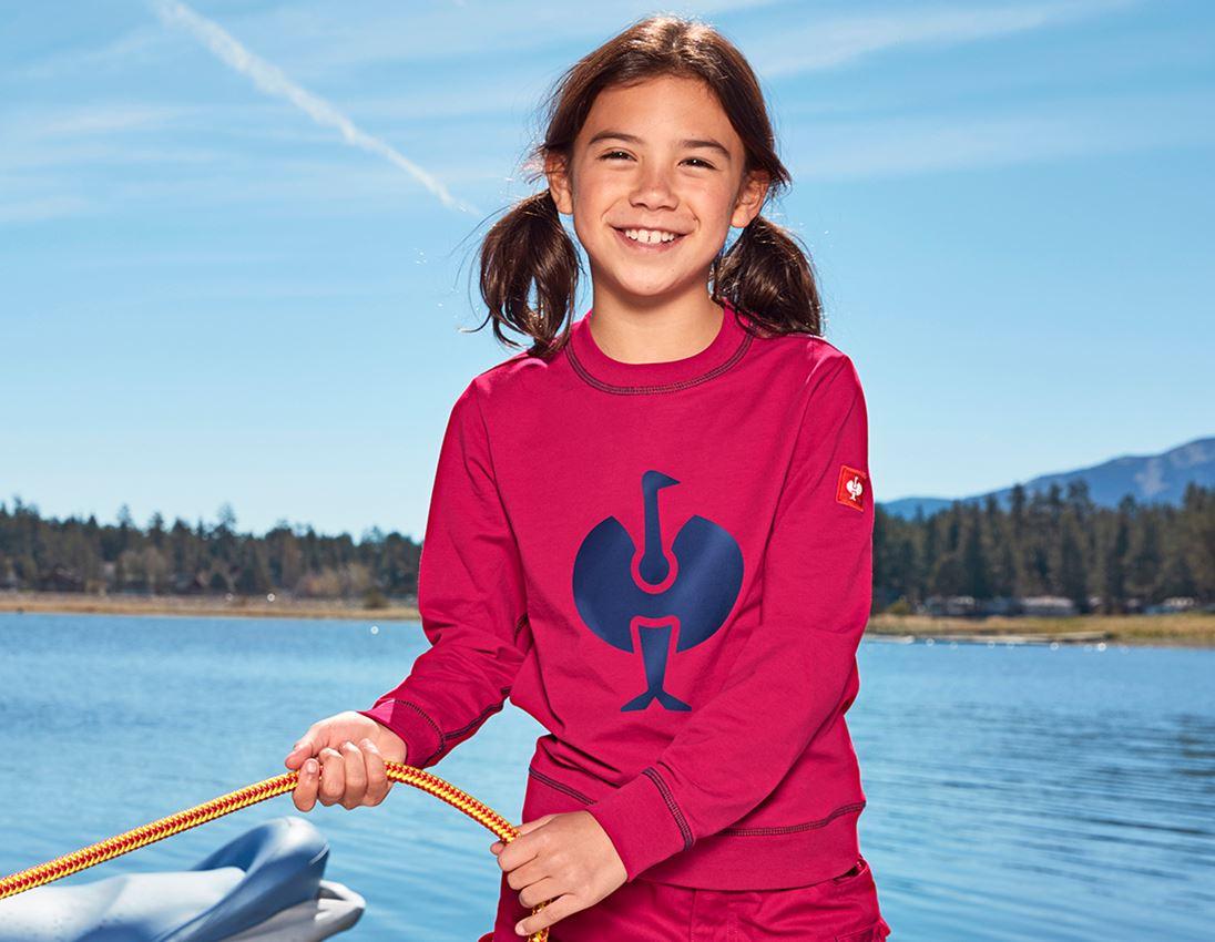 Bovenkleding: Sweatshirt e.s.motion 2020, kinderen + bessen/donkerblauw