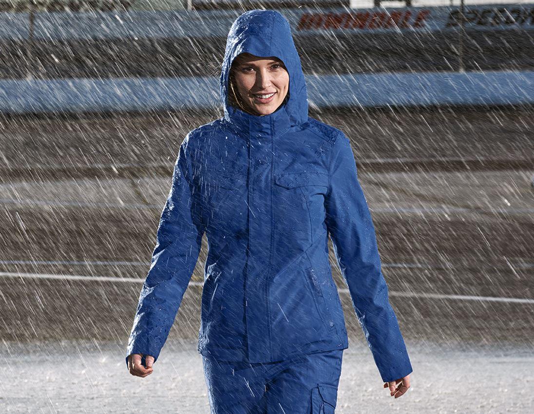 Werkjassen: Regenjack e.s.concrete, dames + alkalisch blauw