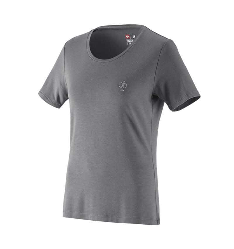 Bovenkleding: Modal-shirt e.s. ventura vintage, dames + bazaltgrijs