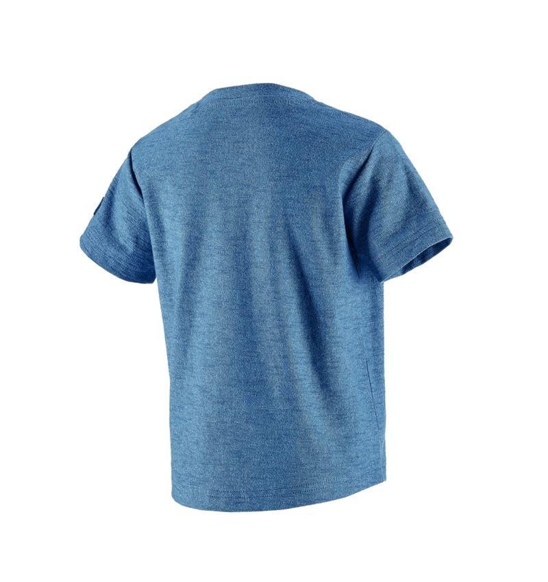 Bovenkleding: T-Shirt e.s.vintage, kinderen + arctisch blauw melange 2