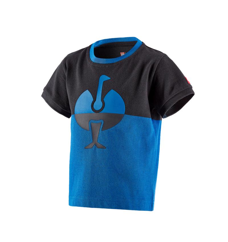 Bovenkleding: e.s. Pique-Shirt colourblock, kinderen + grafiet/gentiaanblauw