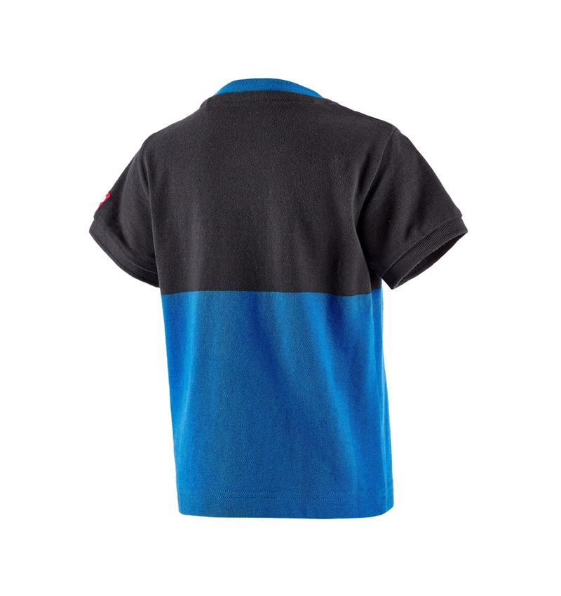 Bovenkleding: e.s. Pique-Shirt colourblock, kinderen + grafiet/gentiaanblauw 2