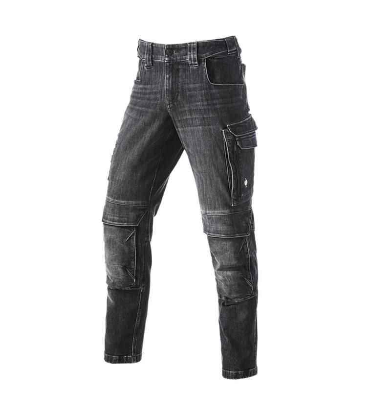 Werkbroeken: cargo worker-jeans e.s.concrete + blackwashed