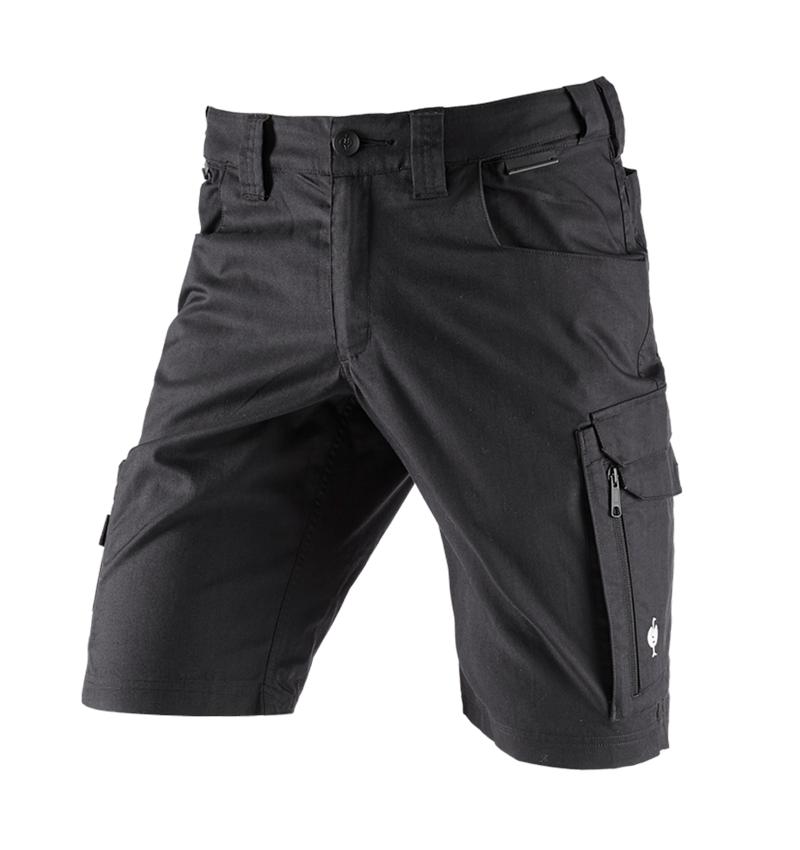 Werkbroeken: Short e.s.concrete light + zwart