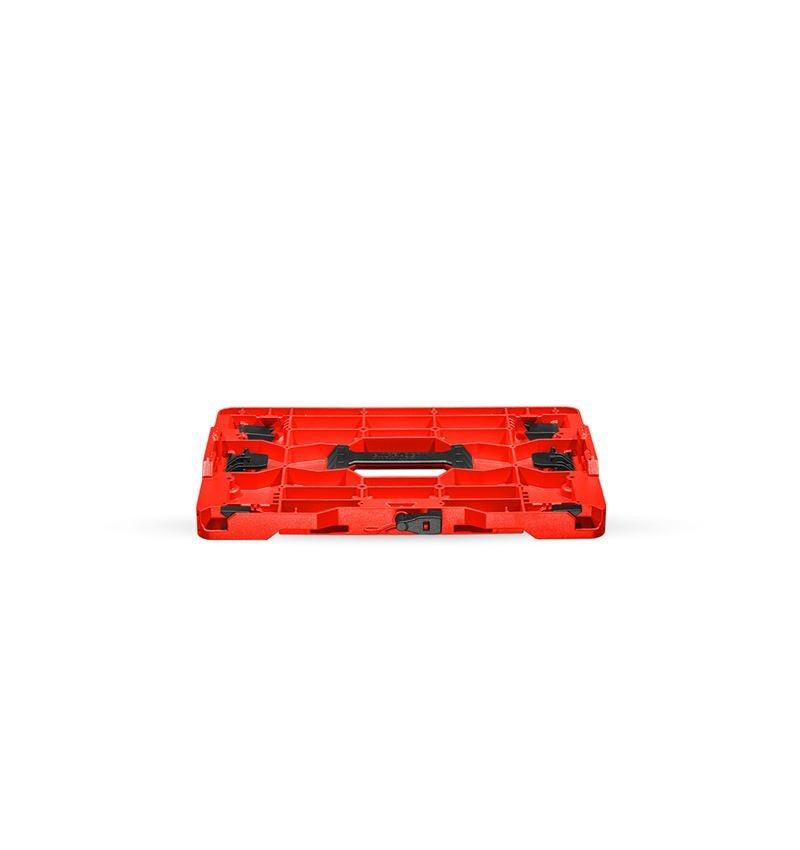 Gereedschapskoffers: STRAUSSbox Hybrid adapterplaat + rood/zwart