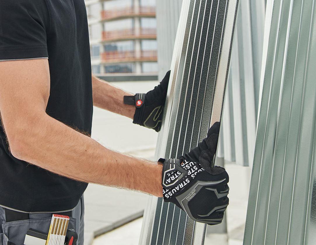 Hybride: e.s. Mechanicienswinterhandschoenen Mirage Ice + zwart/grijs