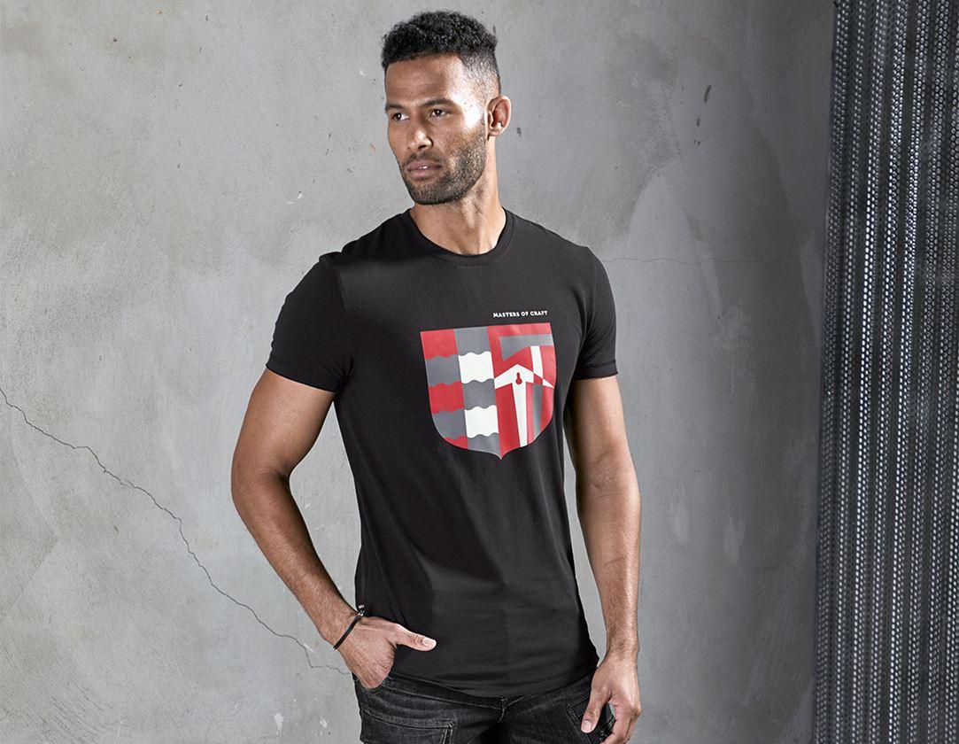 Bovenkleding: e.s. T-shirt Masters of Craft + zwart