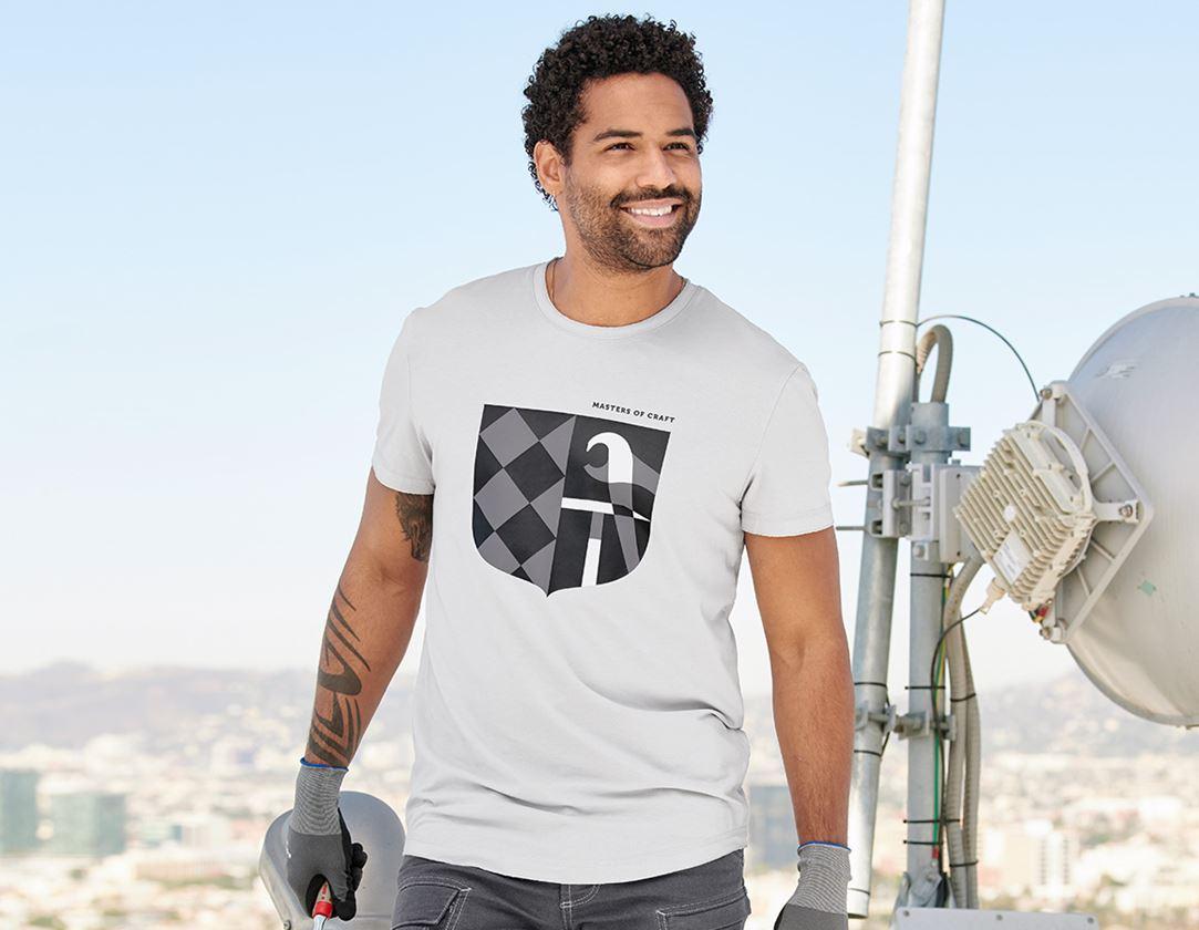Bovenkleding: e.s. T-shirt Masters of Craft + kristalgrijs