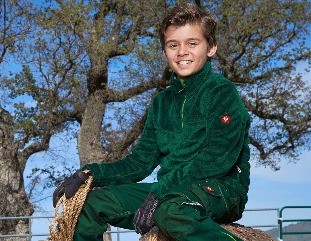 Bovenkleding: Schipperstrui Highloft e.s.motion 2020, kinderen + groen/zeegroen