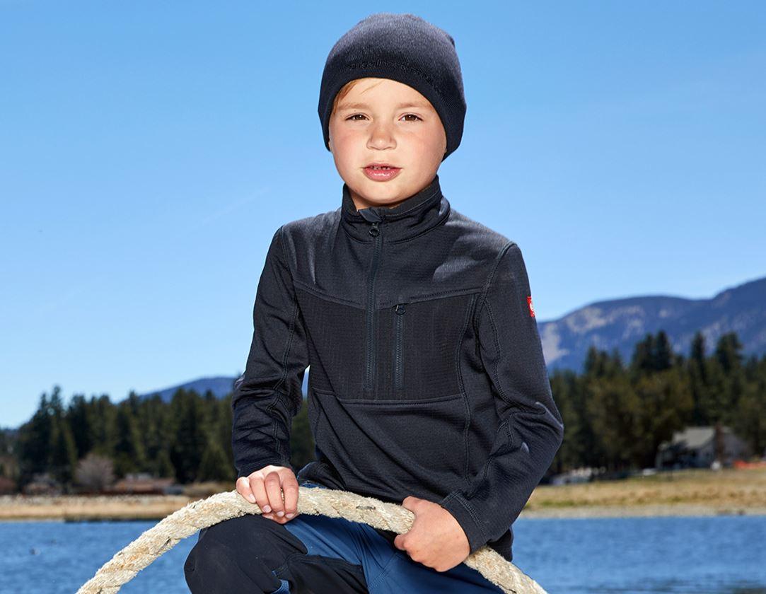 Bovenkleding: Schipperstrui climacell e.s.dynashield, kinderen + pacific