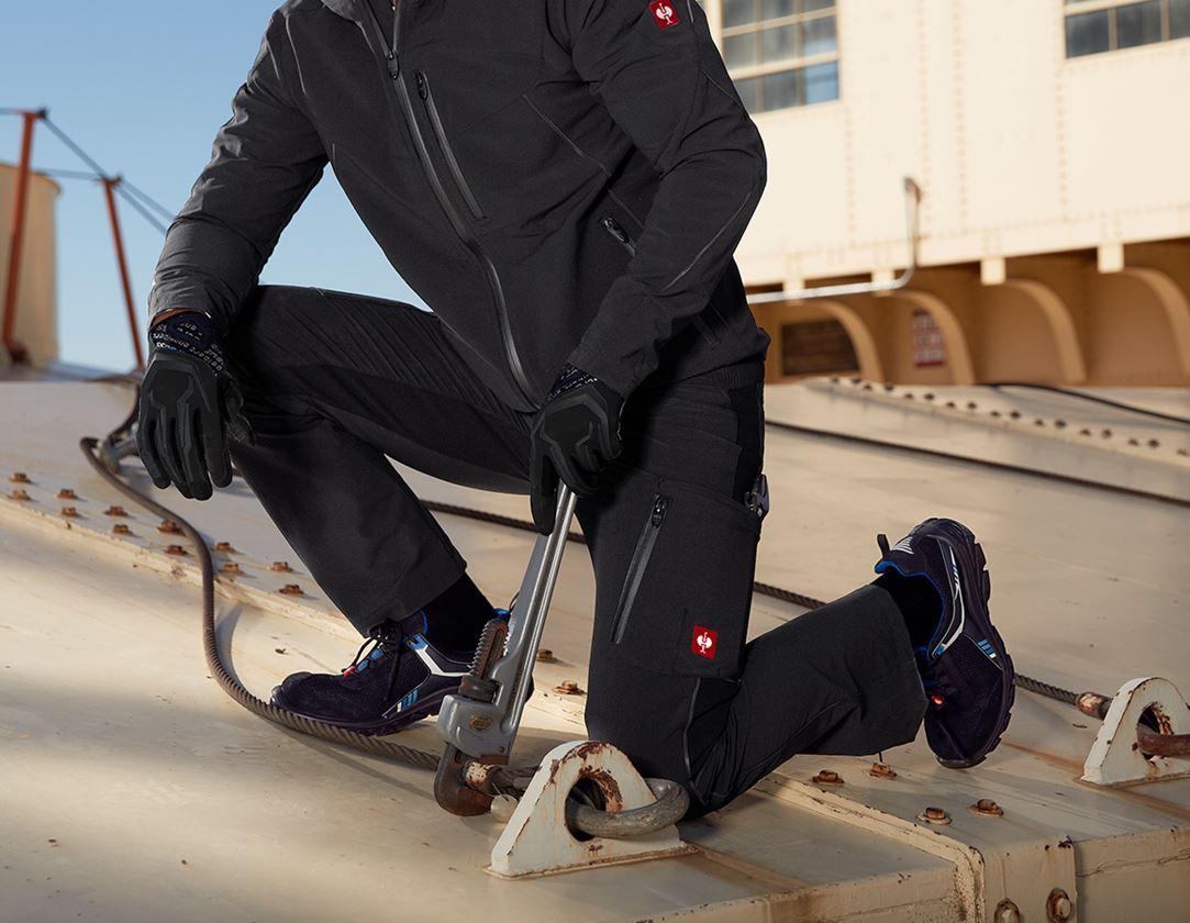 Werkbroeken: Cargobroek e.s.vision stretch, heren + zwart