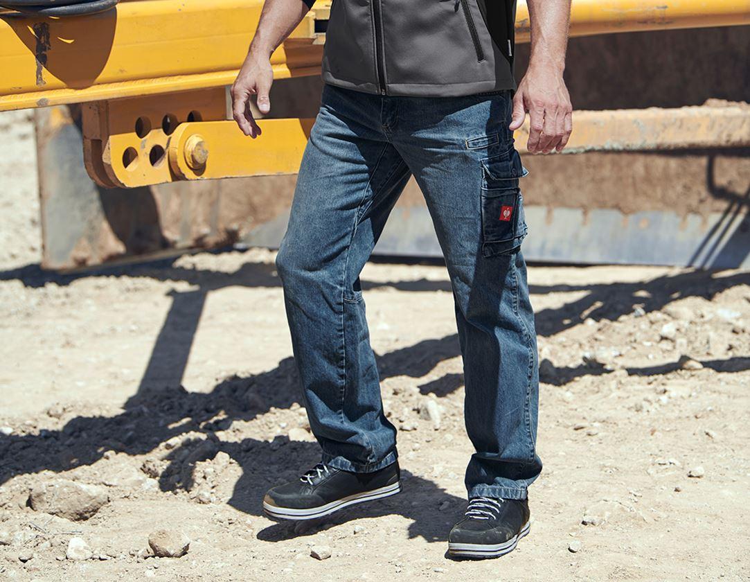 Werkbroeken: e.s. Worker-Jeans + stonewashed