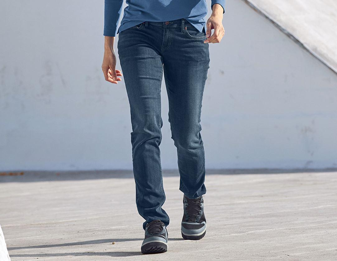 Werkbroeken: e.s. 5-pocket-stretch-jeans, dames + mediumwashed