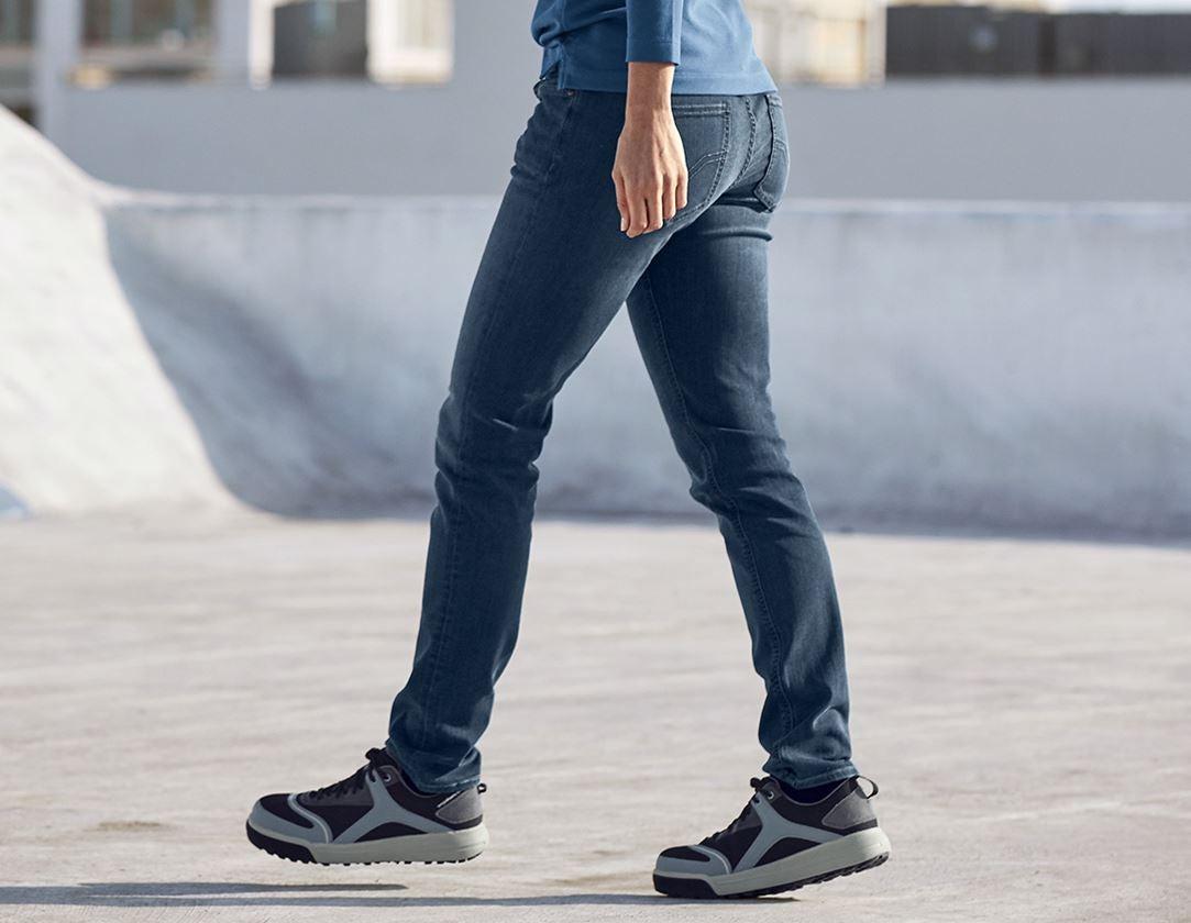 Werkbroeken: e.s. 5-pocket-stretch-jeans, dames + mediumwashed 1