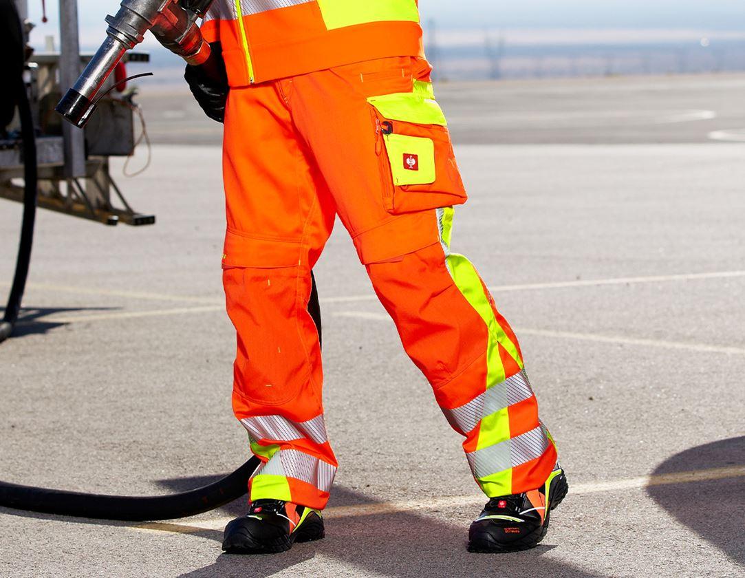Werkbroeken: Veiligheidswerkbroek e.s.motion 2020 + signaaloranje/signaalgeel