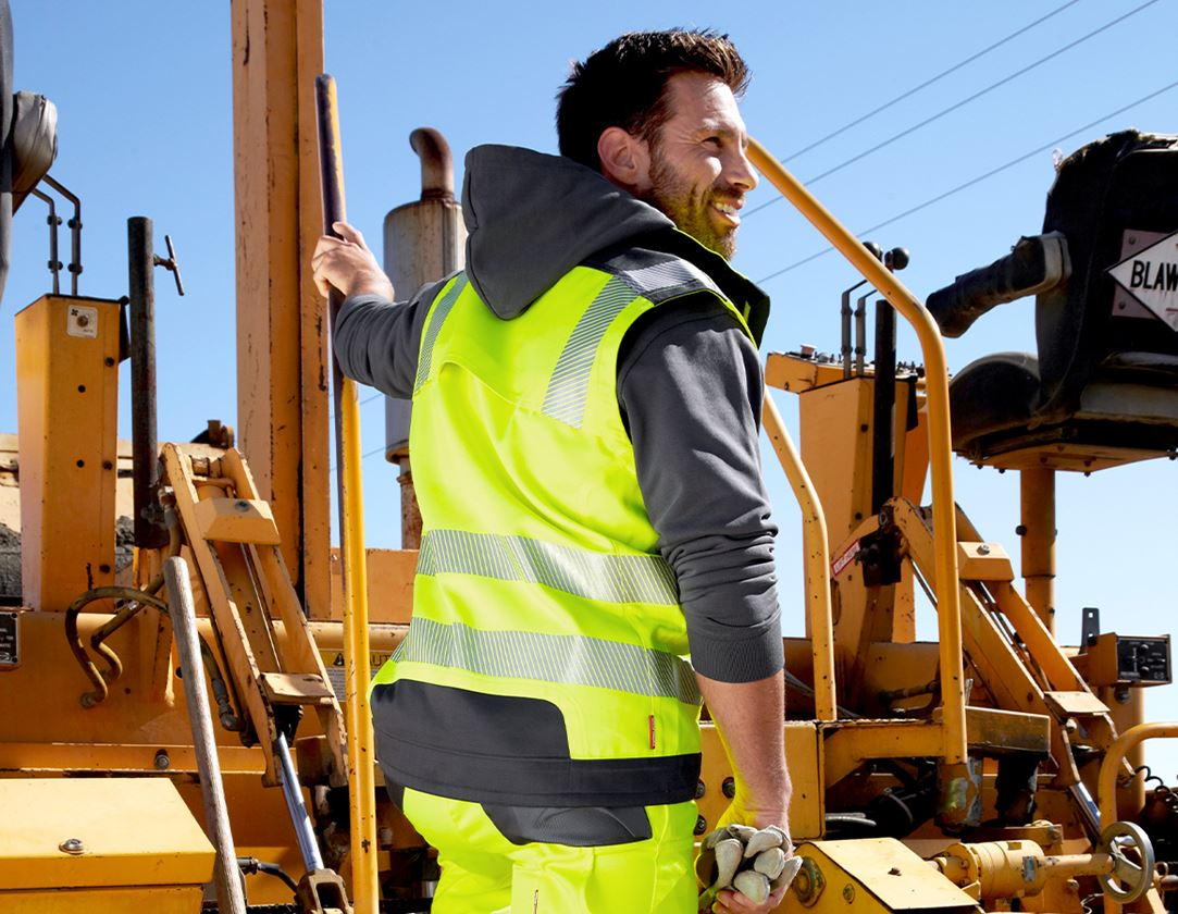 Werkvesten: Veiligheids-bodywarmer e.s.motion + signaalgeel/antraciet 1