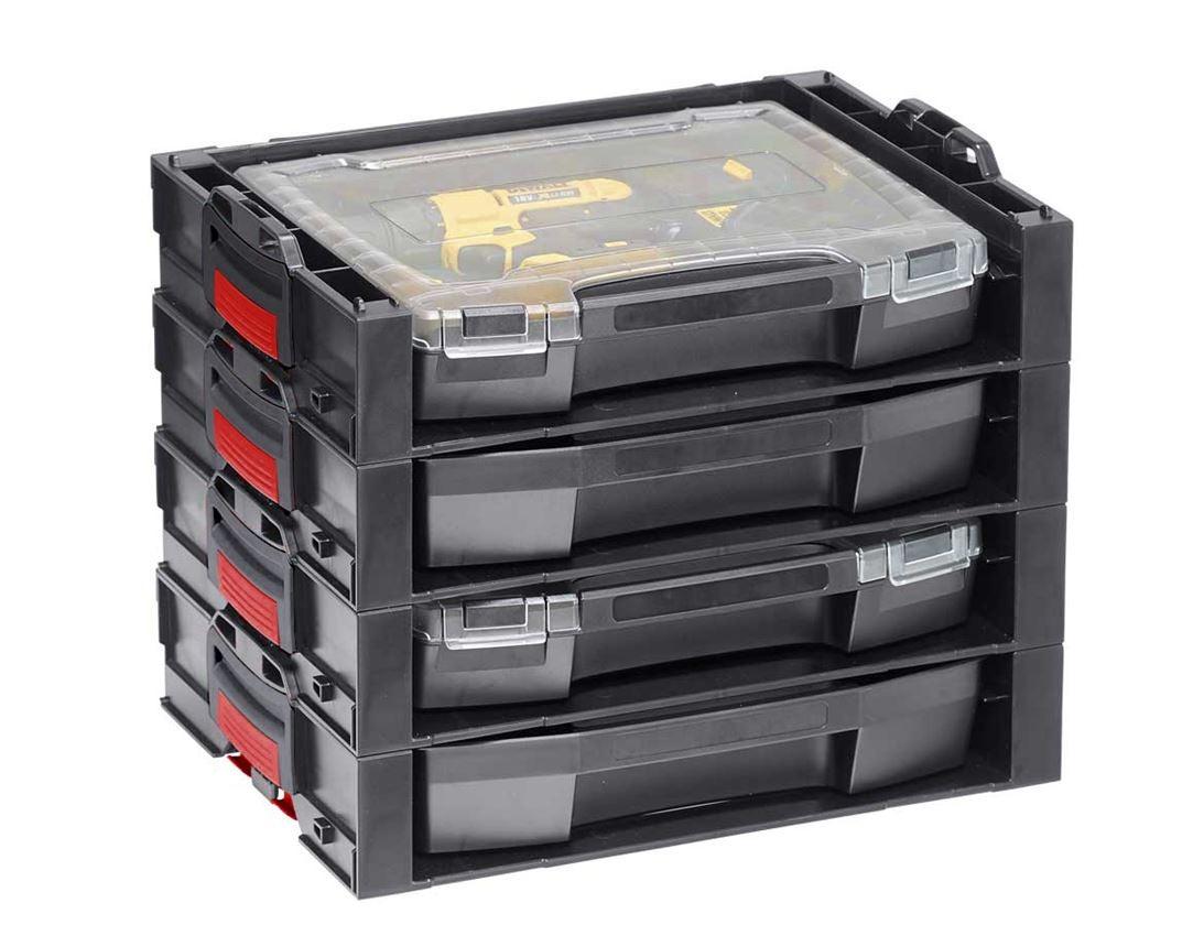 Gereedschapskoffers: e.s. i-Rack active + zwart/rood 4
