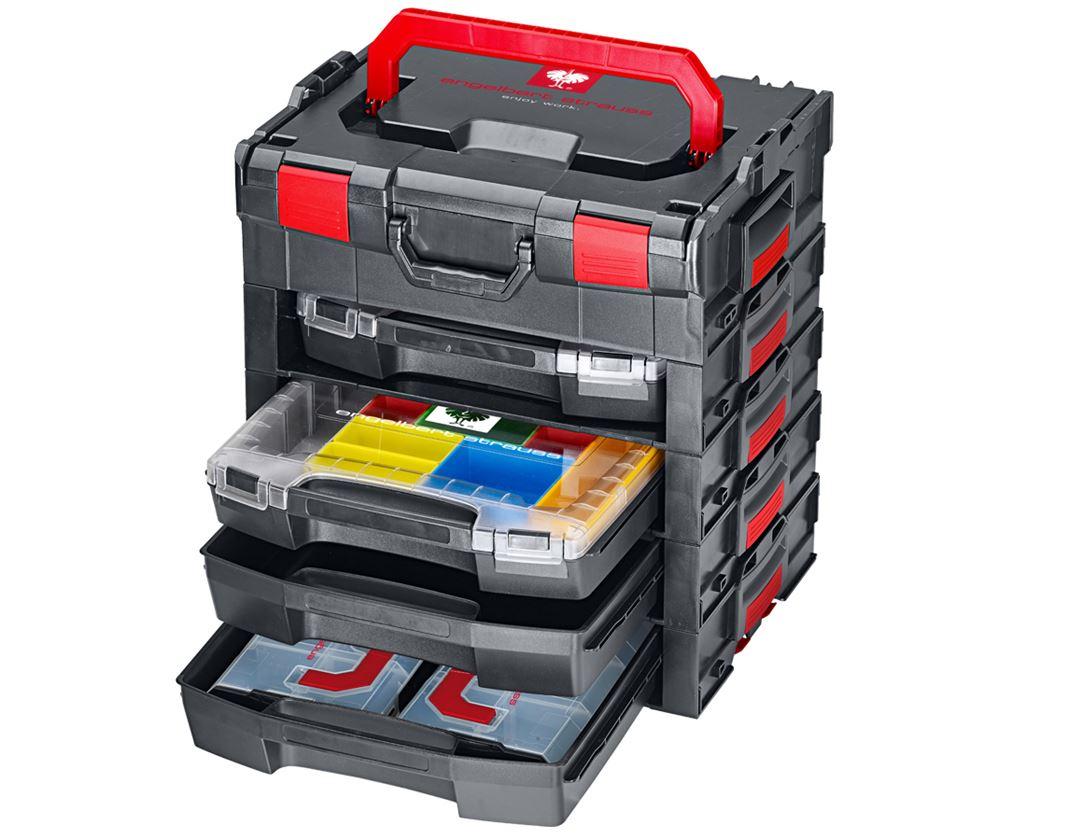 Gereedschapskoffers: e.s. i-Rack active + zwart/rood 9