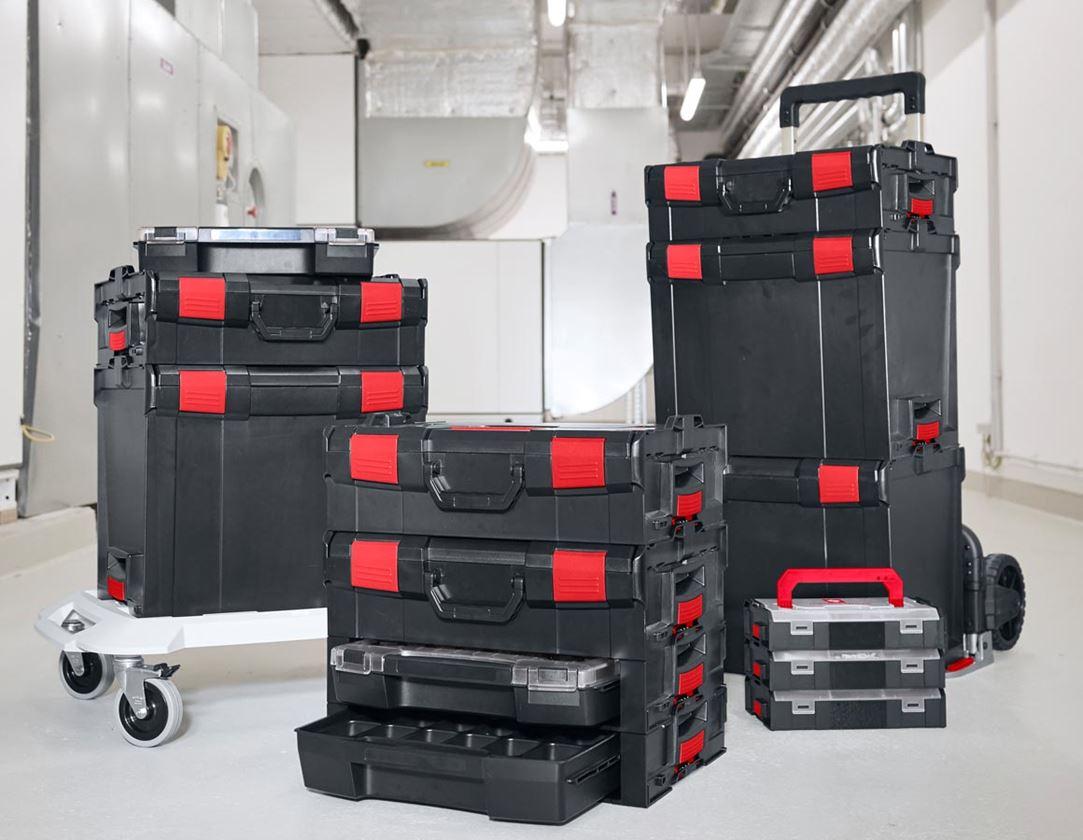 Gereedschapskoffers: e.s. i-Rack active + zwart/rood 10