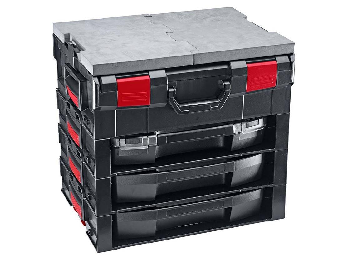 Gereedschapskoffers: e.s. i-Rack active + zwart/rood 6