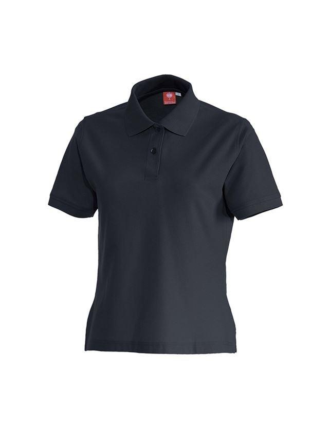 Bovenkleding: e.s. Polo-Shirt cotton, dames + donkerblauw