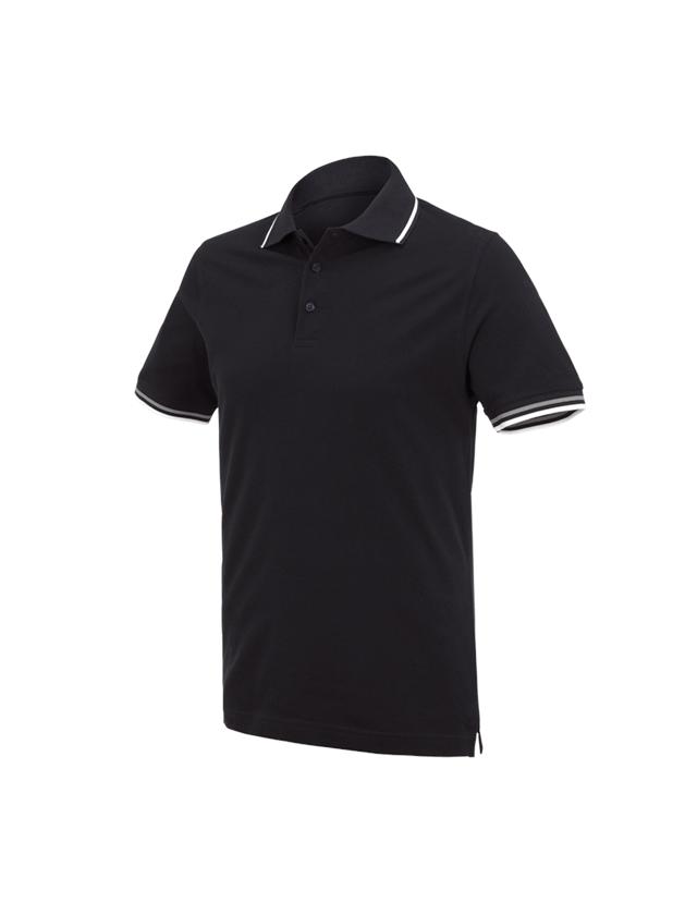 Bovenkleding: e.s. Polo-Shirt cotton Deluxe Colour + zwart/zilver