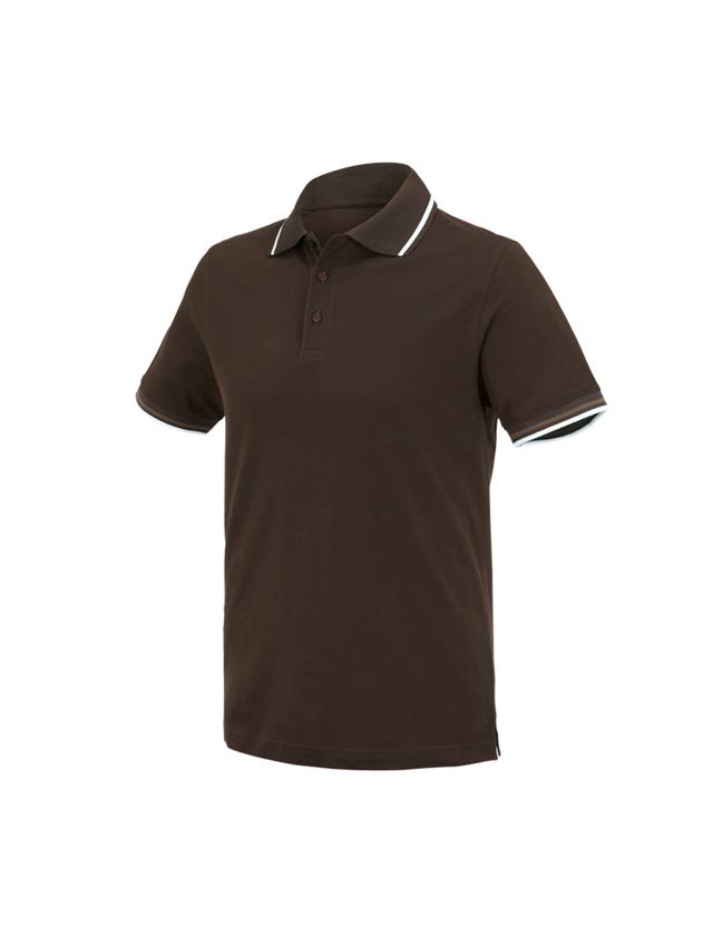 Bovenkleding: e.s. Polo-Shirt cotton Deluxe Colour + kastanje/hazelnoot