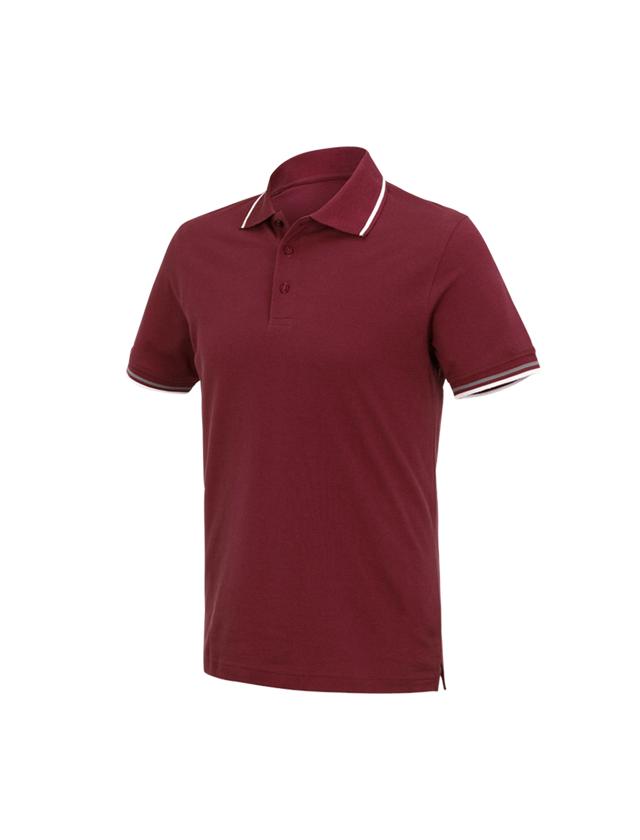 Bovenkleding: e.s. Polo-Shirt cotton Deluxe Colour + bordeaux/aluminium