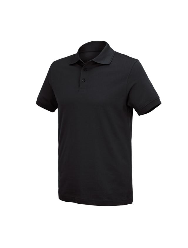 Bovenkleding: e.s. Polo-Shirt cotton Deluxe + zwart