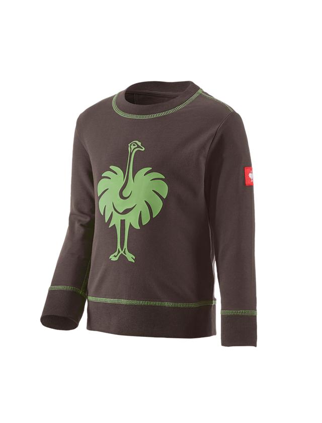 Bovenkleding: Sweatshirt e.s.motion 2020, kinderen + kastanje/zeegroen
