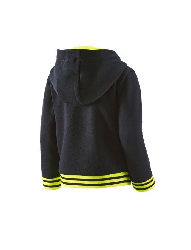 Bovenkleding: Hoody-Sweatjack e.s.motion 2020, kinderen + zwart/signaalgeel/signaaloranje 2