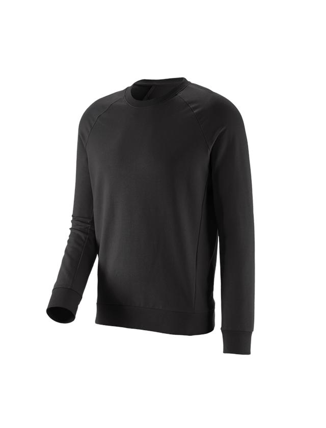 Bovenkleding: e.s. Sweatshirt cotton stretch + zwart