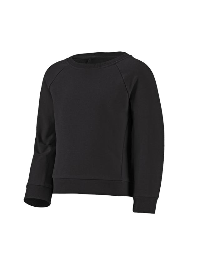 Bovenkleding: e.s. Sweatshirt cotton stretch, kinderen + zwart