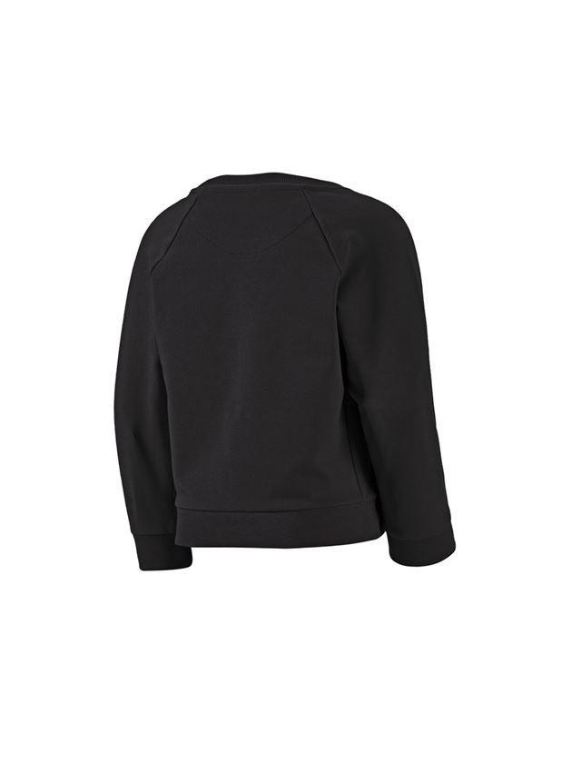Bovenkleding: e.s. Sweatshirt cotton stretch, kinderen + zwart 2