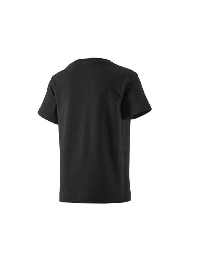 Bovenkleding: e.s. T-shirt cotton stretch, kinderen + zwart 1