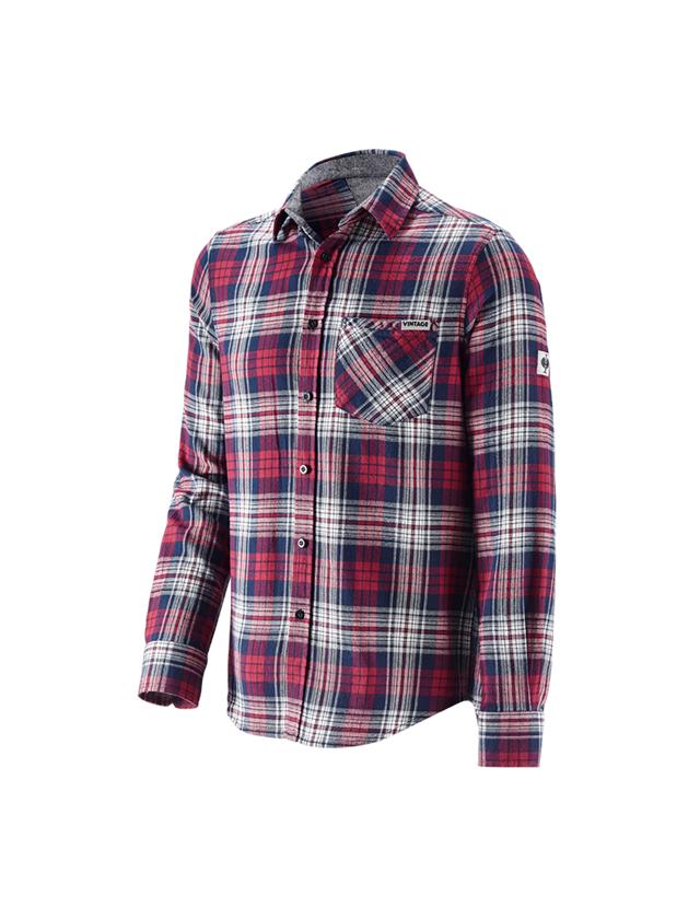 Bovenkleding: Ruitjeshemd e.s.vintage + rood geblokt